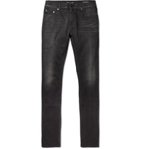 Saint Laurent Skinny Fit 15Cm Hem Stretch Denim Jeans Black