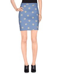 American Retro Skirts Mini Skirts Women Slate Blue