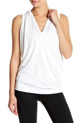 Colosseum Drop Needle Sleeveless Hoodie White