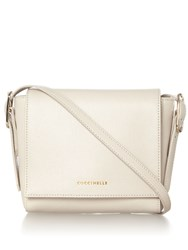 Coccinelle Flo Saff Flapover Cross Body Bag Cream