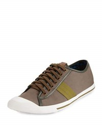 Ben Sherman Earl Lo Canvas Sneaker Walnut