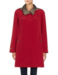 Gallery Removable Hood Rain Coat Red