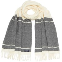 Woolrich Women's Classic Double Wool Scarf Freeze Grey
