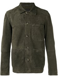 Closed Patch Pocket Jacket Green