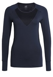 Casall Long Sleeved Top Outer Space Blue