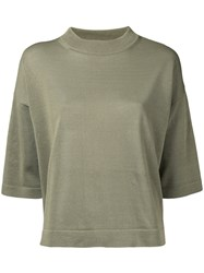 En Route Three Quarter Sleeve Knitted Top Women Paper One Size Nude Neutrals