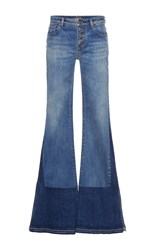 Roberto Cavalli Low Rise Flared Jeans Medium Wash