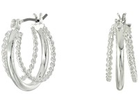 Lauren Ralph Lauren Perfect Pieces Twisted And Smooth Triple Hoop Earrings Silver Earring