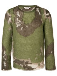 Alyx Textured Camouflage Print Sweater Green
