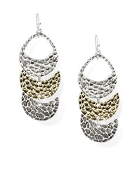 Robert Rose Tiered Crescent Drop Earrings Two Tone