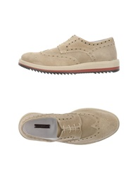 Ballantyne Lace Up Shoes Beige