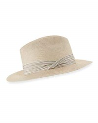 Inverni Indi Hand Dyed Panama Straw Fedora Hat Light Brown