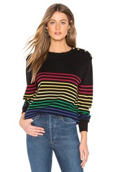 Central Park West Frascati Crew Nautical Sweater Black