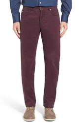 Brax Men's Big And Tall Cooper Stretch Pima Cotton Pants Aubergine