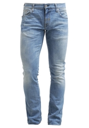 Meltin Pot Meven Slim Fit Jeans Bleached Light Blue Blue Denim