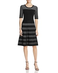 Calvin Klein Fit And Flare Sweater Dress Black White