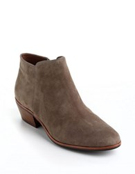 Sam Edelman Petty Low Cut Suede Ankle Boots Taupe