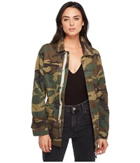 Alpha Industries Revival Field Coat Woodland Camo Women's Coat Multi