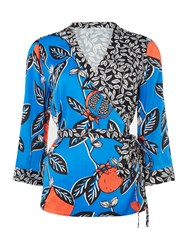 Linea Bree Kimono Blouse Multi Coloured Multi Coloured