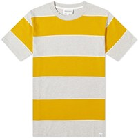 Norse Projects Johannes 3 Stripe Tee Yellow