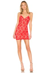 By The Way Kensie Lace Mini Dress Red