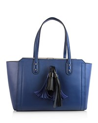 Ivanka Trump Soho Solutions Tassel Leather Work Tote French Blue