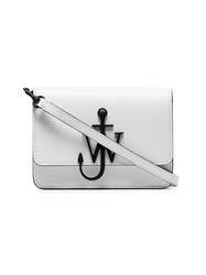J.W.Anderson Jw Anderson White And Black Anchor Logo Mini Leather Cross Body Bag