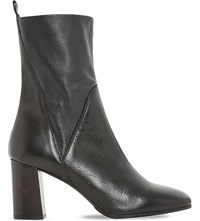 Dune Pattison Stretch Leather Ankle Boots Black Leather