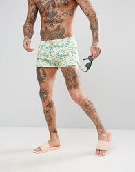 Oiler And Boiler Chevy Swim Short With Floral Print Multi