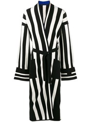 Haider Ackermann Stripe Long Cardigan Black
