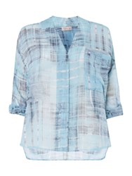 Label Lab Distressed Printed Check Top Multi Coloured Multi Coloured