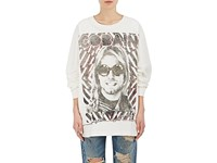 R 13 R13 Women's Cobain Cotton Long Sleeve T Shirt White