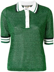 Muveil Knitted Polo Shirt Green