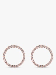 Ted Baker Leeiza Swarovski Crystal Luunar Pave Circle Drop Earrings Rose Gold