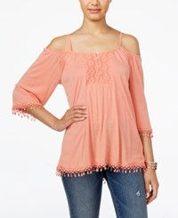 American Rag Crochet Trim Off The Shoulder Top Only At Macy's Clay