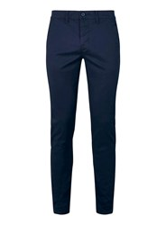 Topman Navy Stretch Skinny Chinos