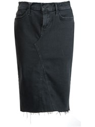 Mother Denim Pencil Skirt Black