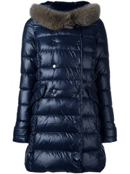 Duvetica Collar Detail Padded Coat Blue