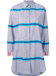 Paul Smith Ps Striped Shirt Dress Purple