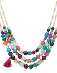 Lonna And Lilly 16 Faux Pearl Beaded Necklace Multicolor