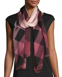 Burberry Ombre Washed Check Silk Scarf Rose