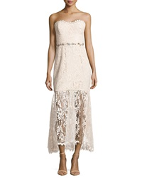 Notte By Marchesa Embellished Lace Strapless Dress Blush