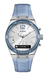 Guess C0002m5 Connect Ladies Smart Watch Sky Blue