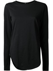 Bassike Long Sleeve T Shirt Black