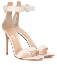 Gianvito Rossi Portofino 105 Leather Sandals White