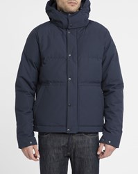 The North Face Navy Box Canyon Waterproof Removable Hood Down Jacket Blue