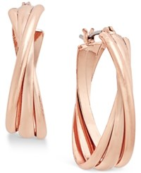 Charter Club Rose Gold Tone Triple Twists Hoop Earrings Only At Macy's