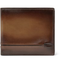 Berluti Makore Polished Leather Billfold Wallet Brown