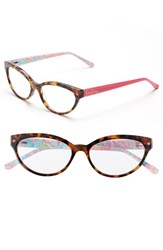Women's Lilly Pulitzer 'Sandpiper' 52Mm Reading Glasses Pink Tortoise Hibiscus