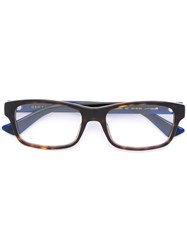 Gucci Eyewear Web Arm Contrast Glasses Black